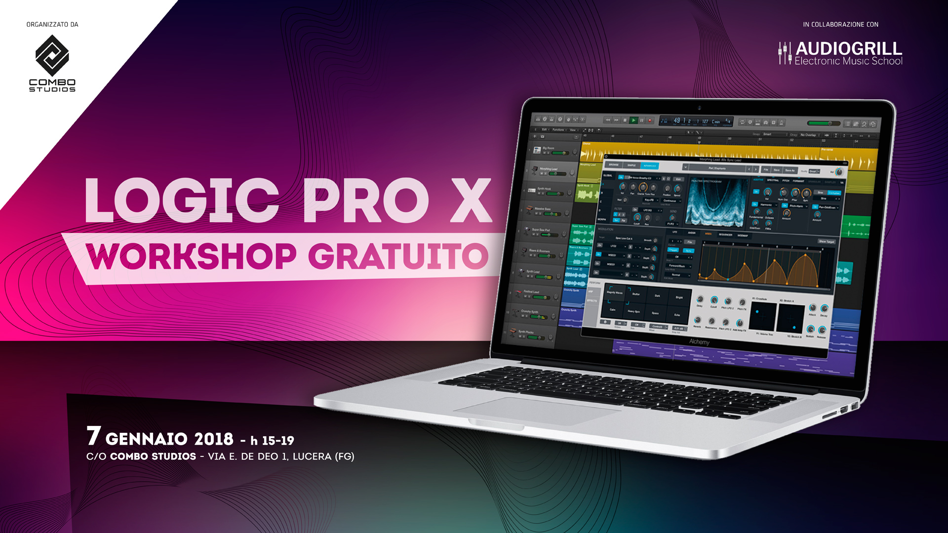 Logic Pro X – Workshop gratuito