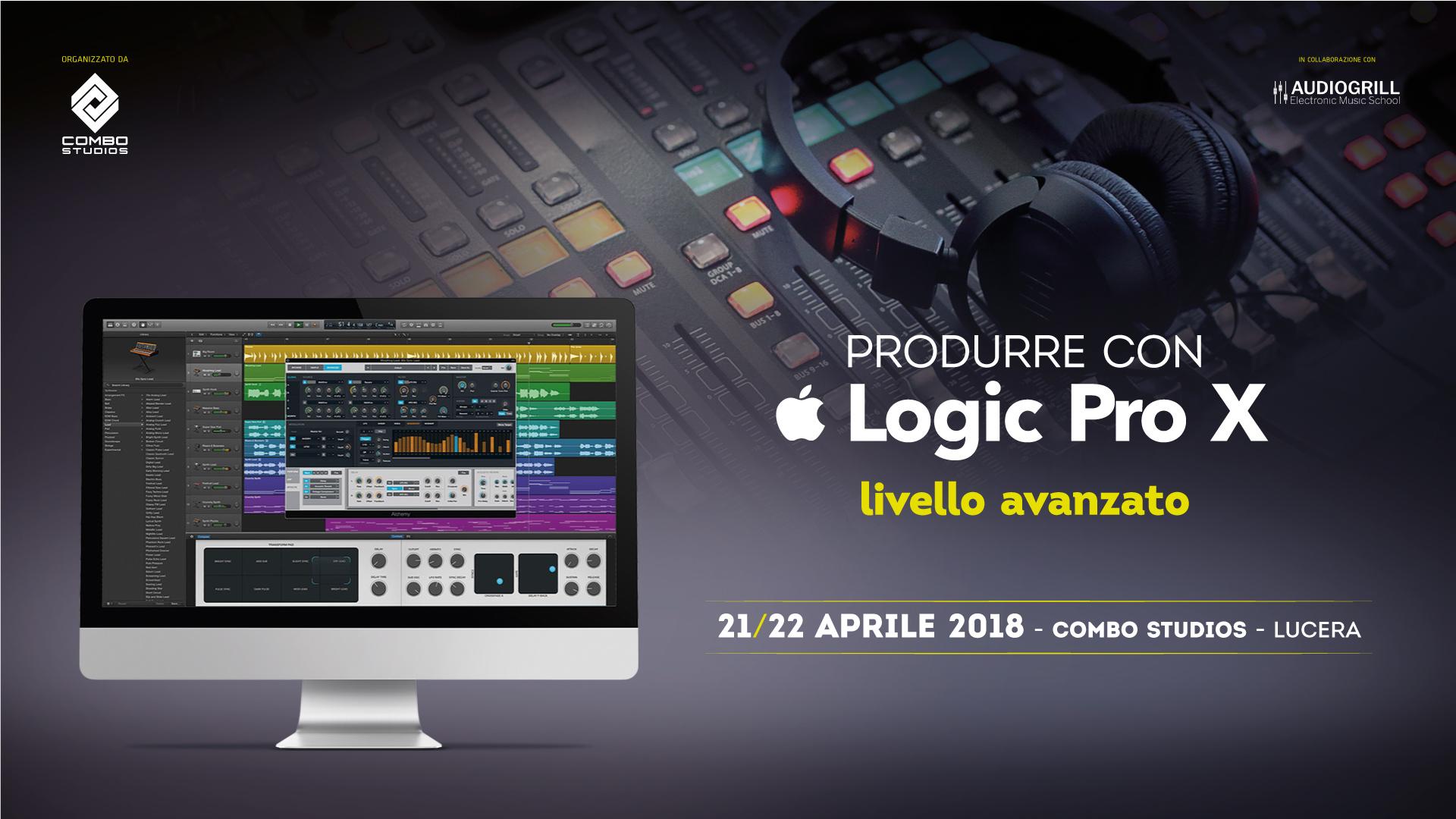 Corso di Logic Pro X – Livello Avanzato